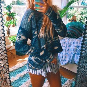 aztec travelers bohemian sweater